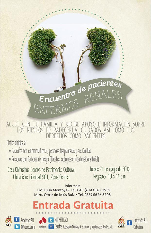 Encuentro de Pacientes Renales, Chihuahua, Chihuahua-21/Mayo
