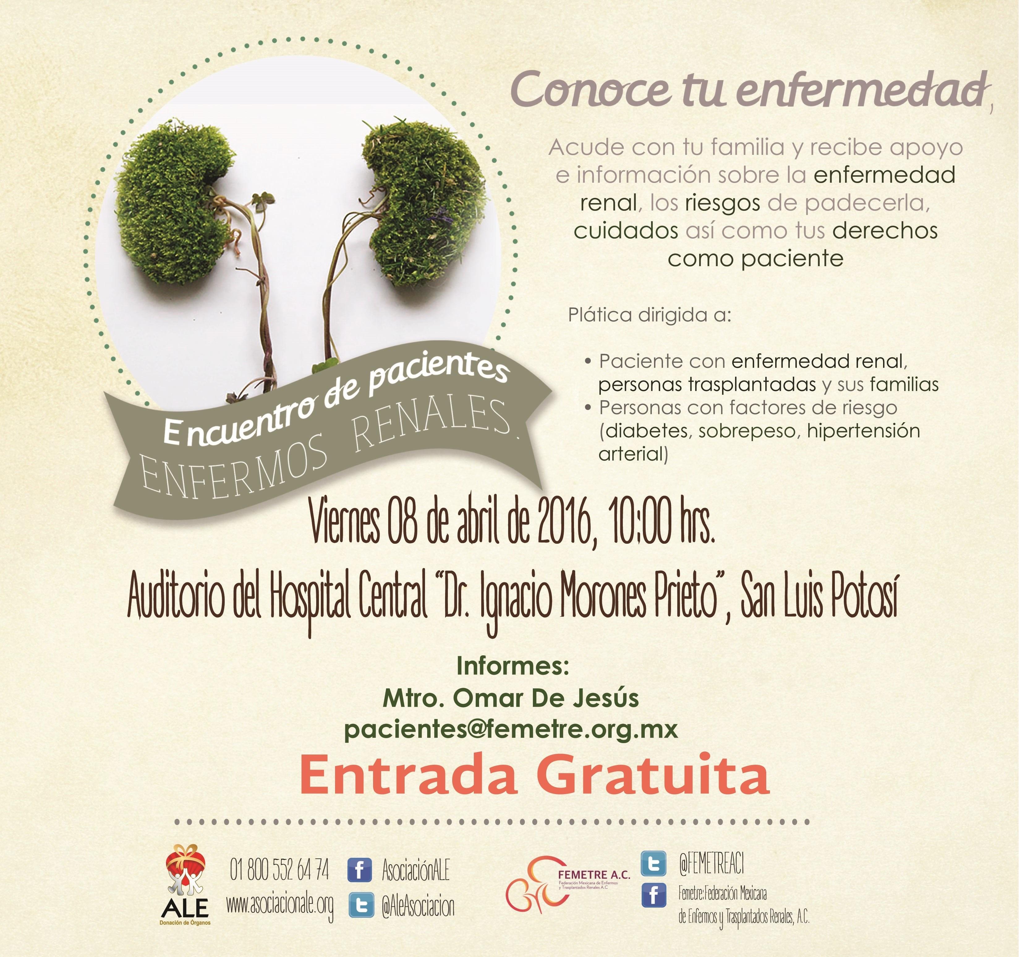 Encuentro de Pacientes Renales, SanLuis Potosi -8 / Abril
