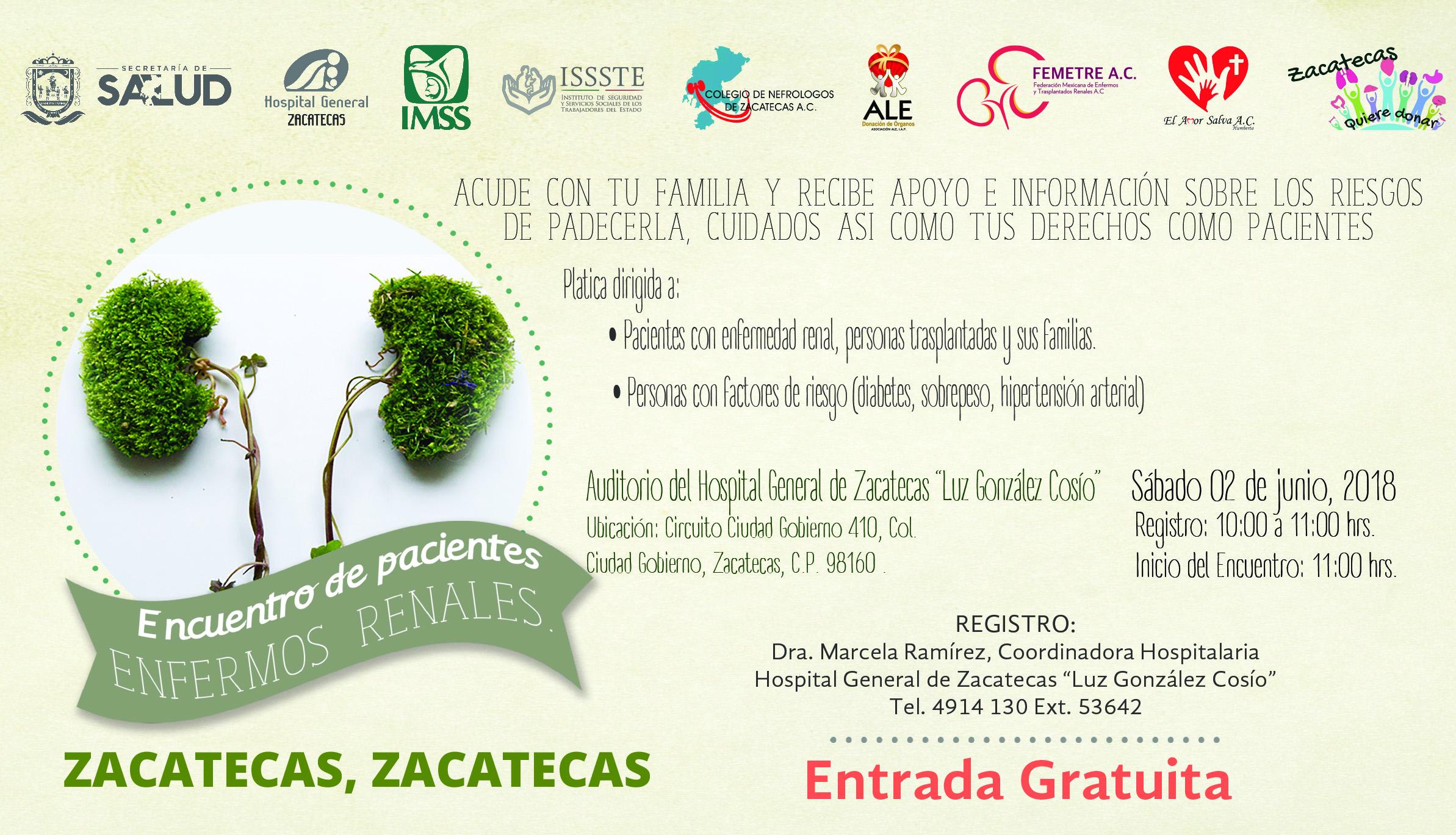 Encuentro de Pacientes Enfermos Renales, Zacatecas, Zac.